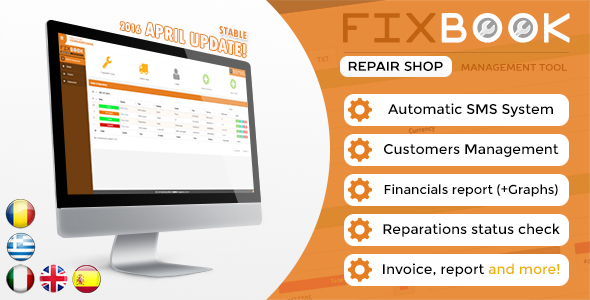 FixBook v2.2 - Repair Shop Management System - CodeCanyon