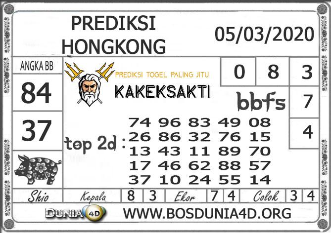 Prediksi Togel HONGKONG DUNIA4D 05 MARET 2020