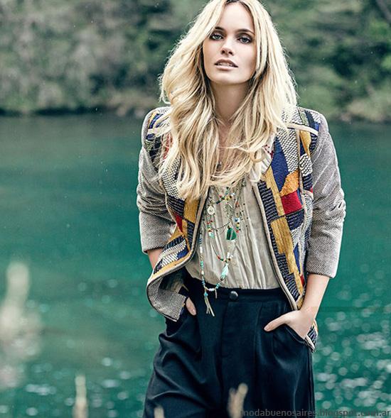 Sacos otoño invierno 2016 moda mujer. Moda mujer otoño invierno 2016 India Style.