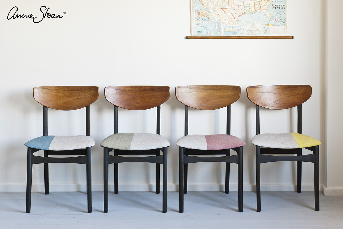 Annie Sloan  Paint & Colour: Mid-Century Modern Chairs