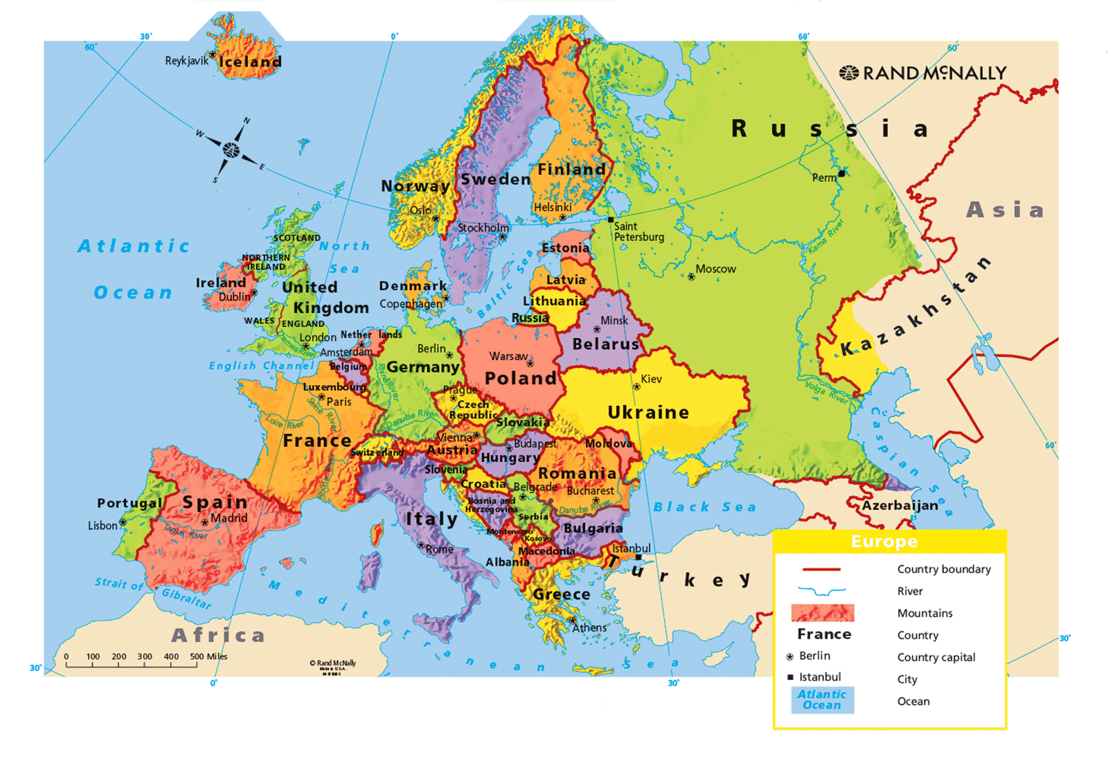 Mountain Ranges Of The World Worksheet