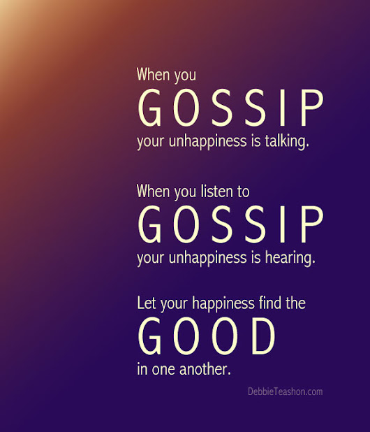 The Unhappy Gossip
