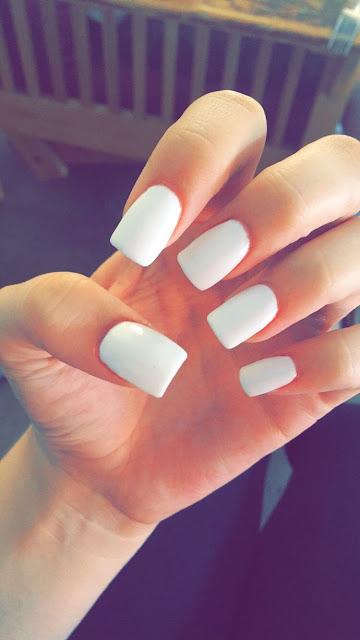 White square nails