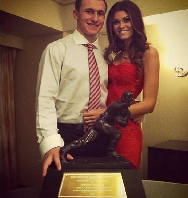 Johnny Manziel credits girlfriend for