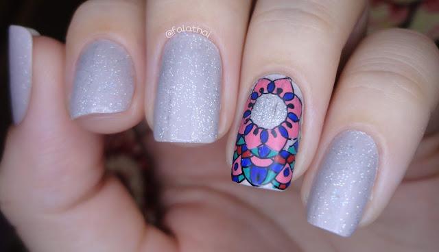 nail stamping - Mandala S007