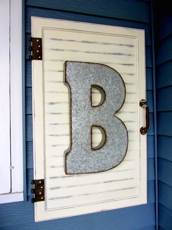 Cabinet Door Decor Project Tutorial www.organizedclutterqueen.blogspot.com
