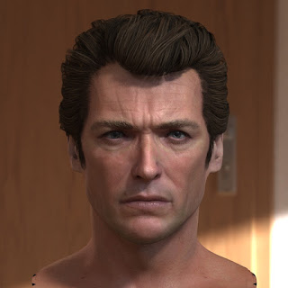 3d model Clint Eastwood Dirty Harry head