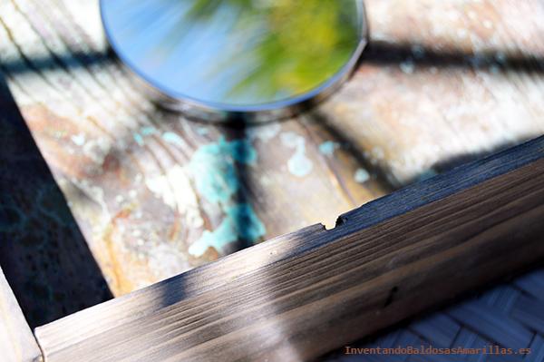 Efecto envejecido en caja de madera
