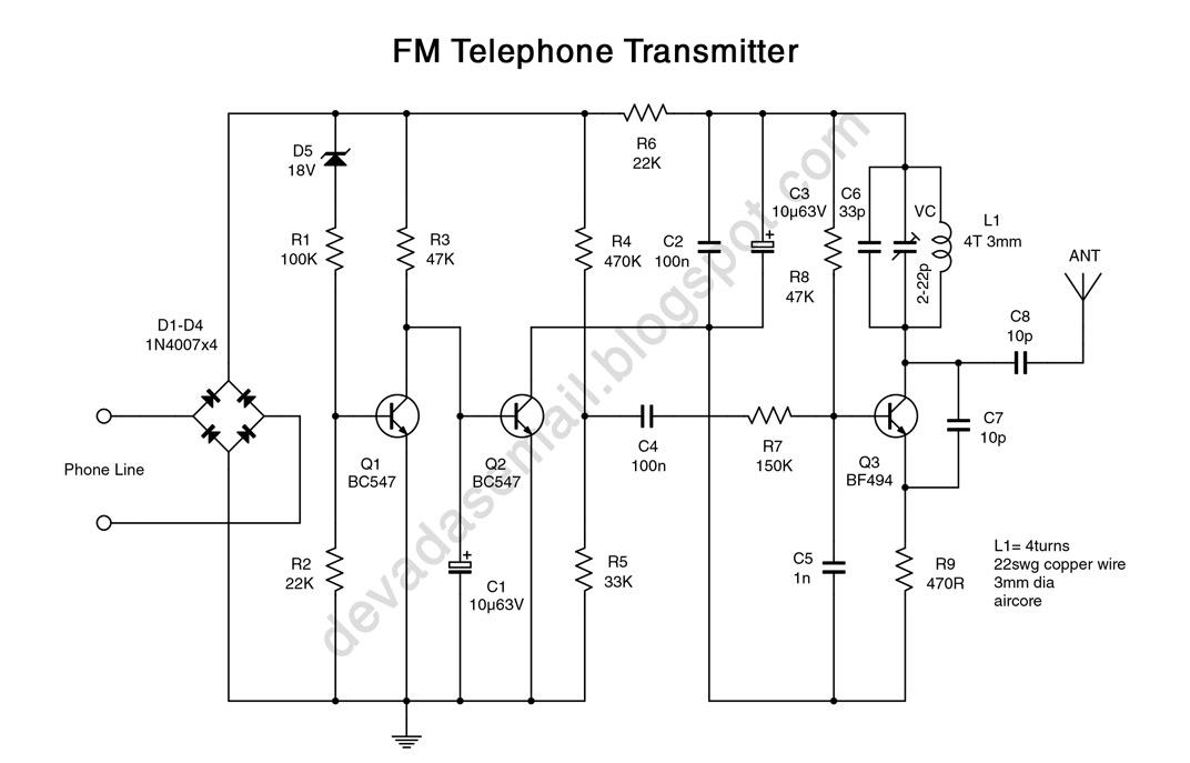 Fpv Transmitter Wiring Diagram 125cc Quad Bike Bluetooth Circuit Great Installation Of Fm Telephone Bug Rh Blbluetoothfmtransmitter Blogspot Com Receiver