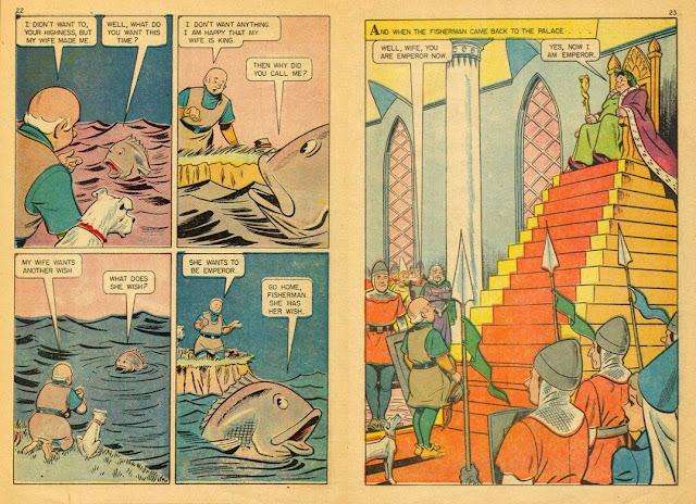 Ο Ψαράς και η Γυναίκα του, από τα Μικρά Κλασσικά Εικονογραφημένα