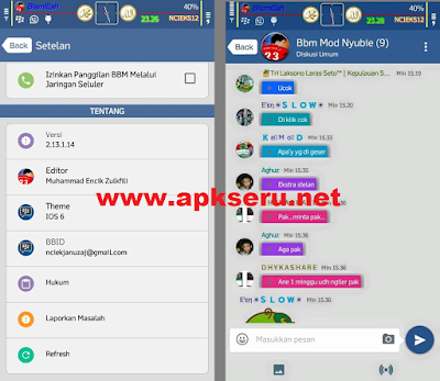 Download BBM Mod IOS 6 V2.13.1.14 Apk Update