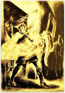 Claudius Rapta a Duquesa Eleonora, Claudius Hermann, Noite na Taverna, João Fahrion, 1940