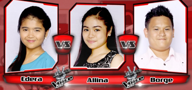 Borge Won Over Edera and Allina on The Sing-offs for The Voice Kids Philippines