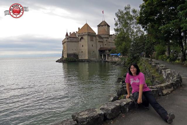 En el Castillo de Chillon, Montreux, Suiza