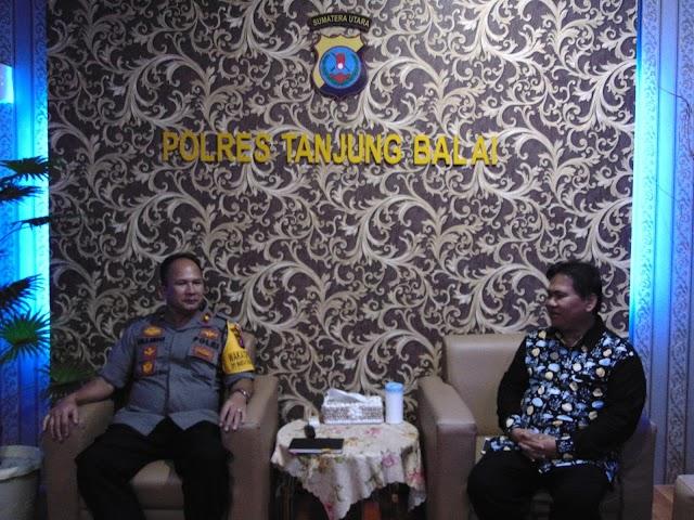 Wakapolres Tanjung Balai Menerima Audiensi Panitia Natal Oikumene