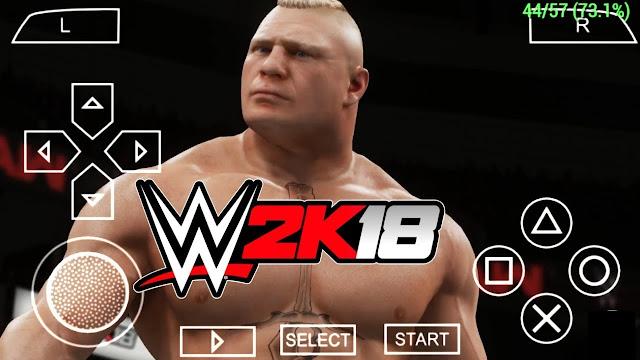 واخير تحميل لعبة WWE 2K18 للاندرويد وتشغيلها على محاكي [PPSSPP]