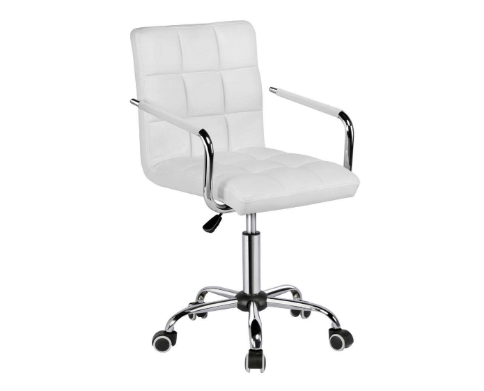 Gotobuy White Modern Office Leather Chair