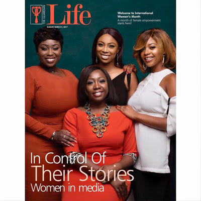 Peace Hyde, Stephanie Busari, Keturah King & Bolanle Olukanni Celebrated On The Cover Of Guardian Life For International Women's Day