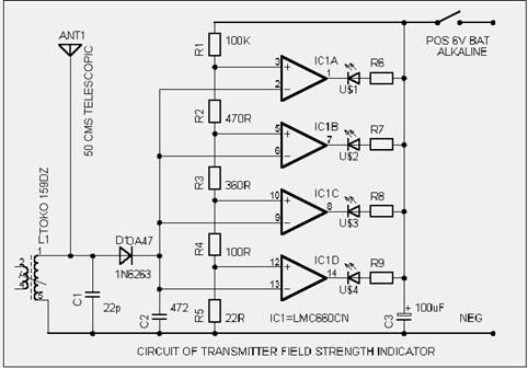 Test Transmitter for Radio Control Circuit Diagram