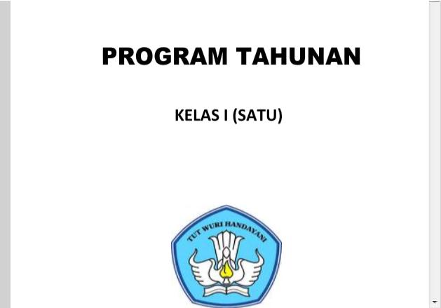 Contoh Prota Dan Promes Kelas 1 Sd Kurikulum 2013 Revisi Terbaru Tahun 2016 Administrasi