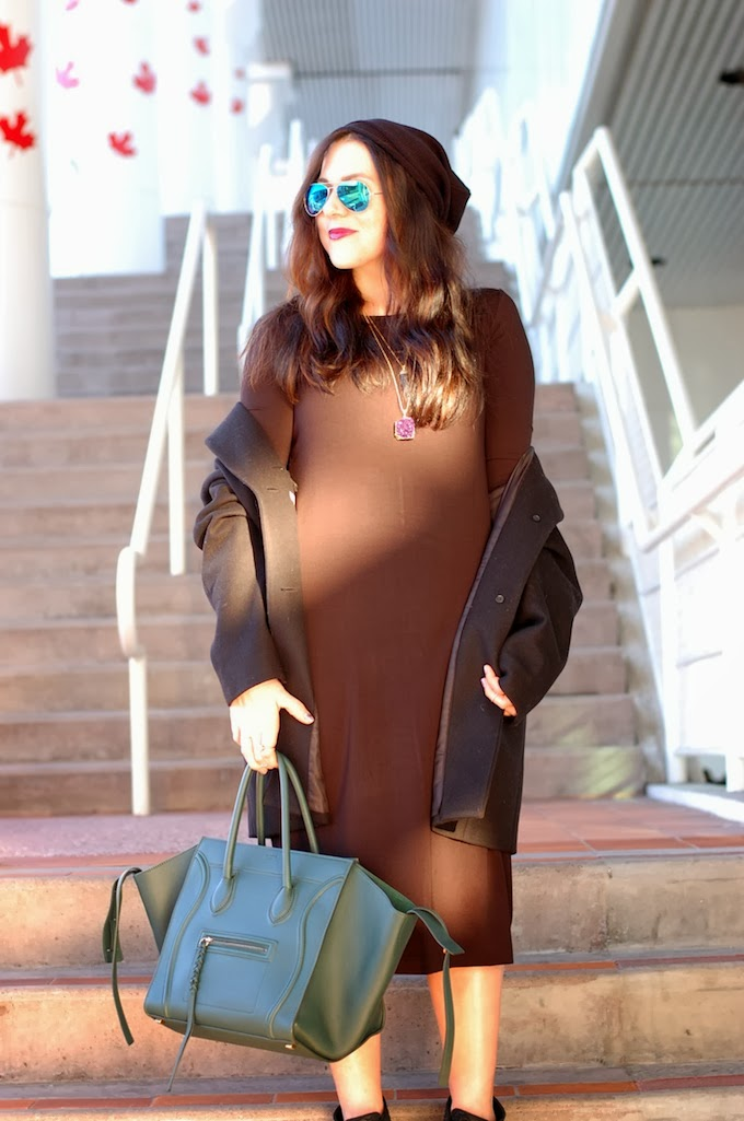 HM Midi dress and Celine Phantom