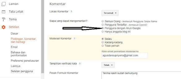 Menangkal Komentar SPAM pada domain Blogger