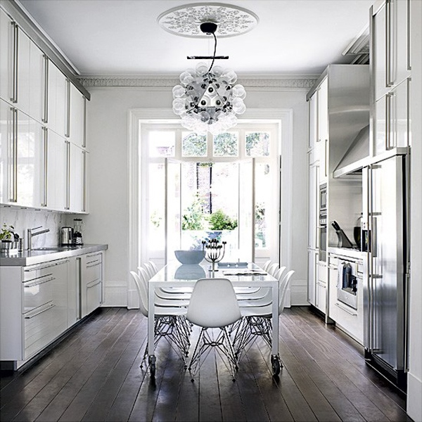 Dapur nuansa putih modern
