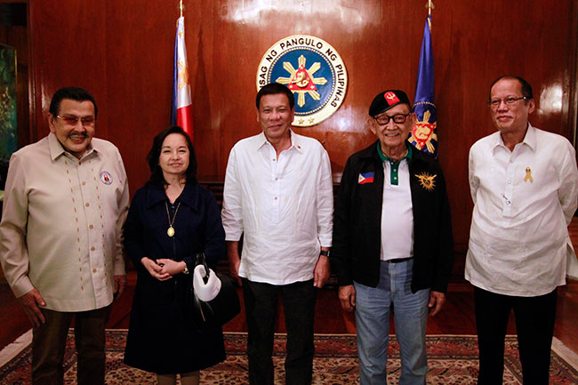 President Rodrigo Duterte leads the first meeting of the National Security  Council at Malacañang on Wednesday, July 27, 2016. Joining the meeting are  the ...