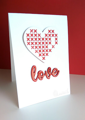 love card, quillish, cards by Ishani, CAS card