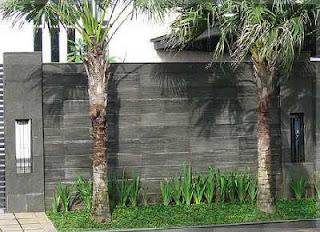 ragam desain pagar tembok
