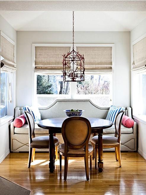 banquette dining room | Andrea Hebard Interior Design Blog: Banquette Please