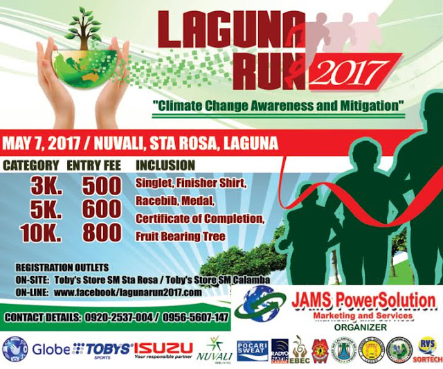 "LAGUNA RUN 2017 ""A Run for Climate Change Awareness and Mitigation"""