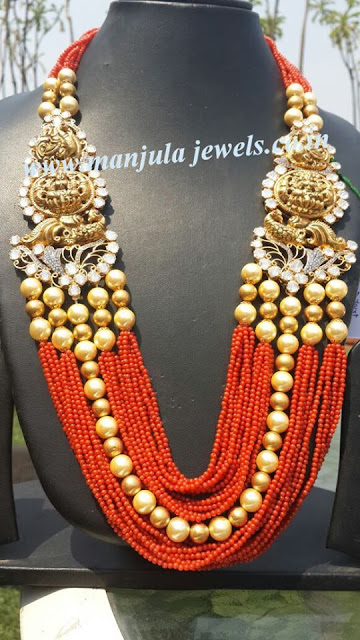 Orange Coral South Pearls Huge Haram