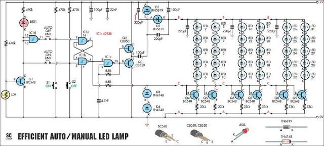 ldr based 12v white led driver for up to 30 leds circuit. Black Bedroom Furniture Sets. Home Design Ideas