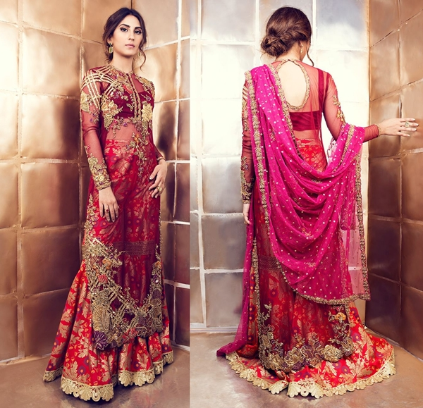 latest lacha dress designs by Pakistani designer
