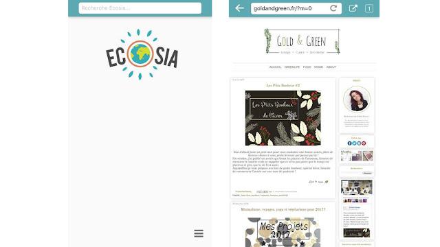 goldandgreen application écolo zero dechet smartphone