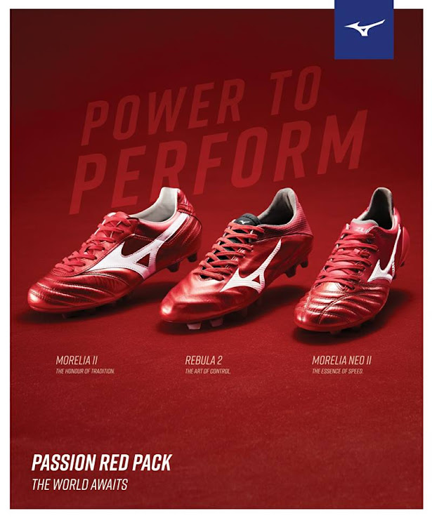 cheap for discount 8040e 04954 Mizuno 'Passion Red' 2018 World Cup Boots Pack Released ...