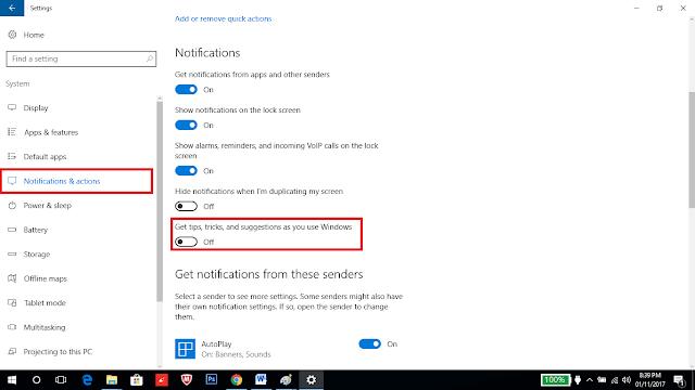 Tip mematikan windows 10 untuk kecepatan