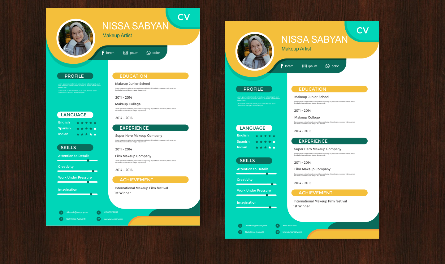 Download Template CV CorelDRAW Keren Abis 2018 - Master