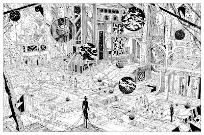 The Last Wave II Keyline Variant Art Print by Kilian Eng x Grey Matter Art