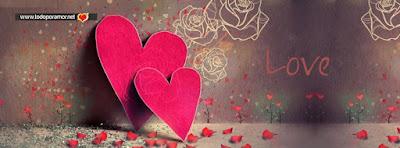 Portadas con corazones tiernos para Facebook