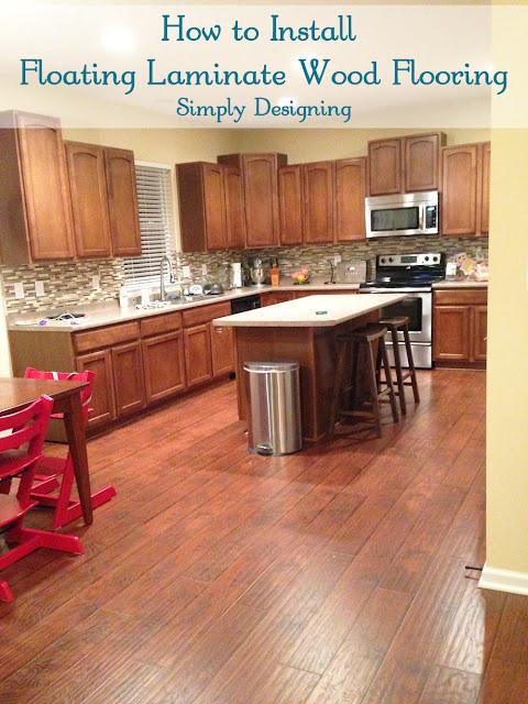How to Install Floating Laminate Wood Flooring | #diy #homeimprovement #flooring | Simply Designing