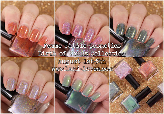 Femme Fatale Birth of Venus Collection Swatches & Review