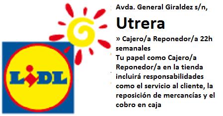 Lanzadera de Empleo Virtual Sevilla, Oferta Lidl Utrera