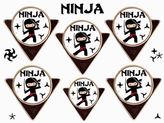 Banderines para Imprimir Gratis de Ninja.