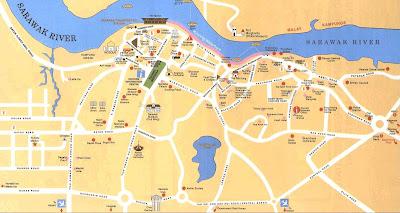 Peta Kuching, Sarawak, Malaysia