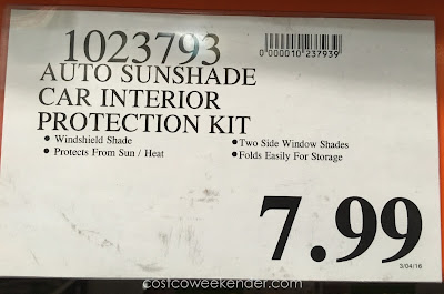 Deal for the Winplus Car Sunshade 3 Piece Kit at Costco