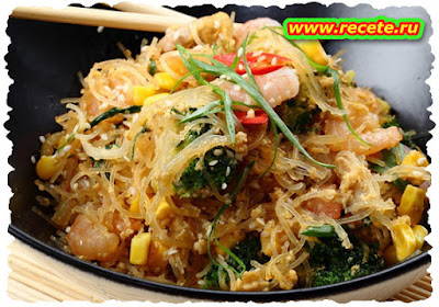 Prawn Stir Fry with Cucumber Noodles