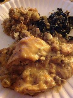Crock Pot Chicken, Gravy, and Stuffing