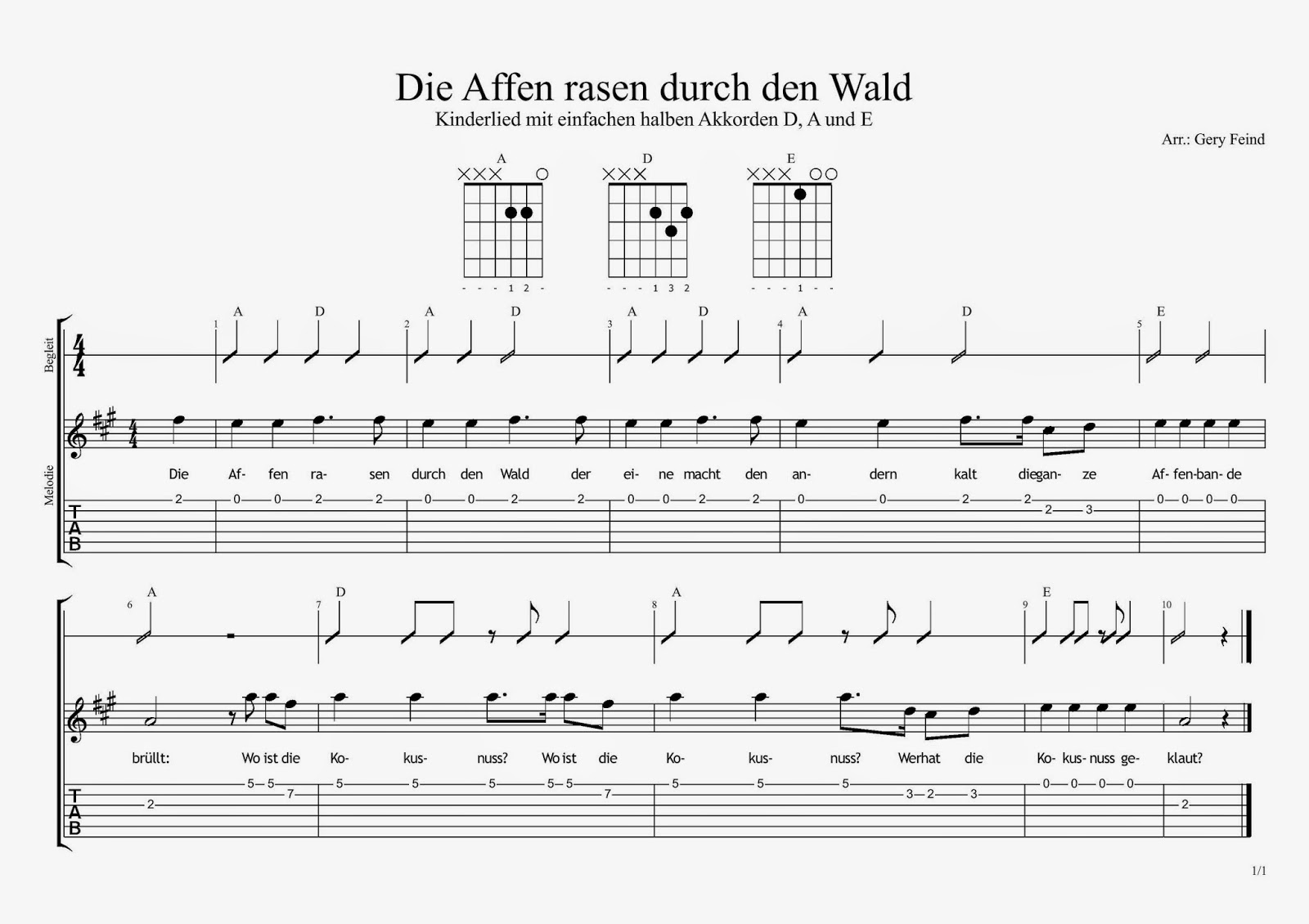 KINDERLIEDER CHORDS EPUB